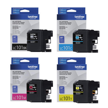 Brother MFC-J650DW Original Ink Cartridges Black/Cyan/Magenta/Yellow, 4-Pack Combo