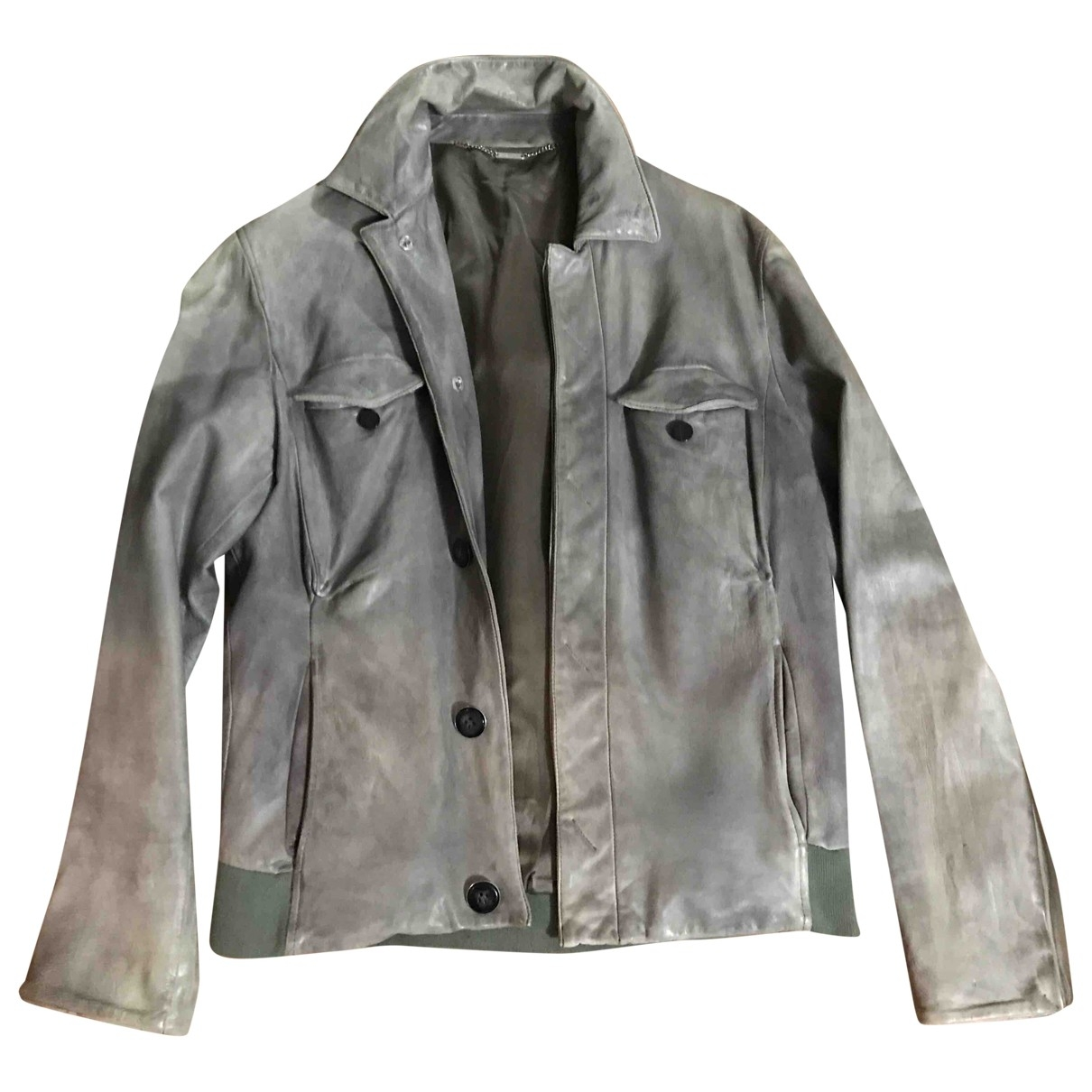 Costume National \N Khaki Leather jacket  for Men 48 IT