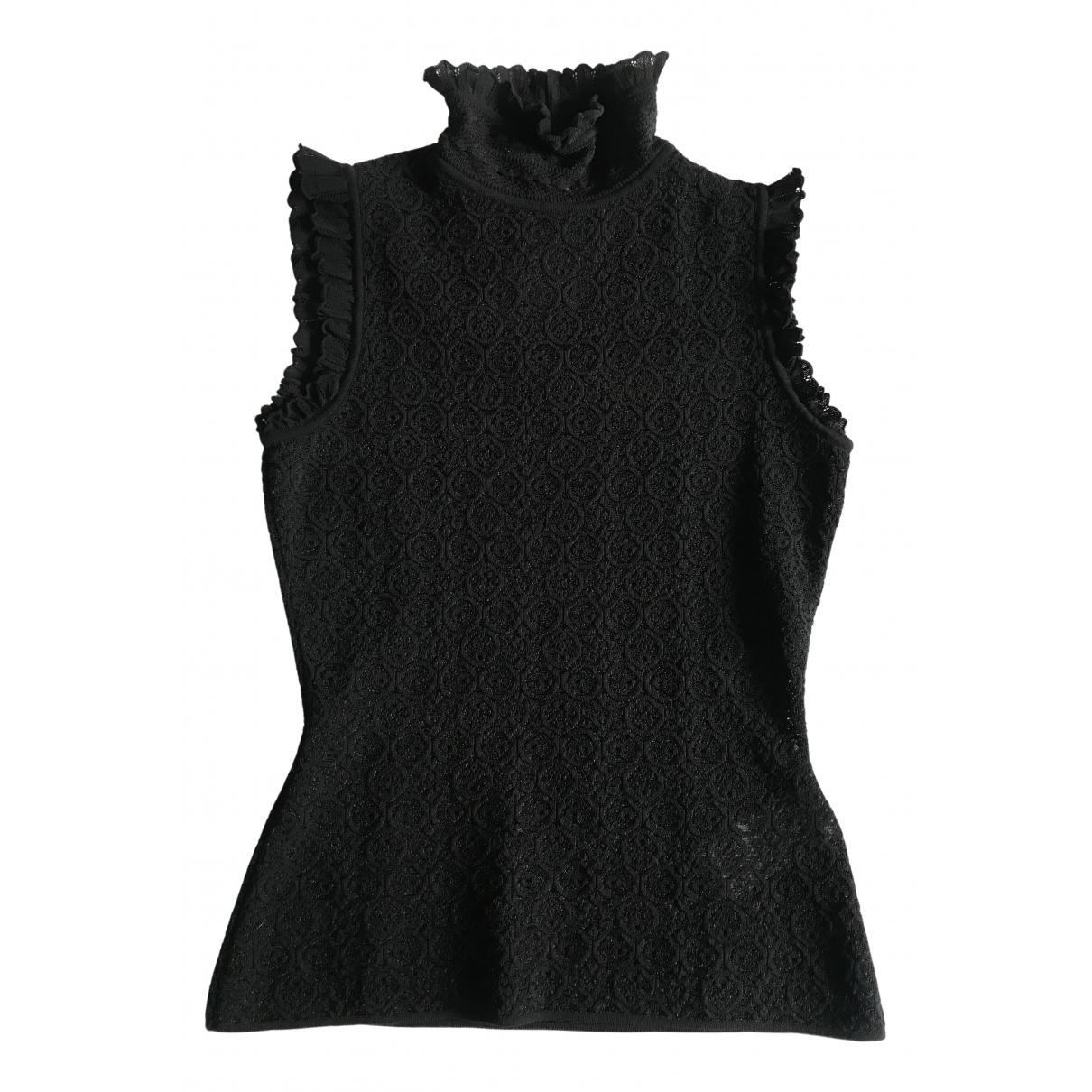 Alexander Mcqueen - Top   pour femme en coton - noir