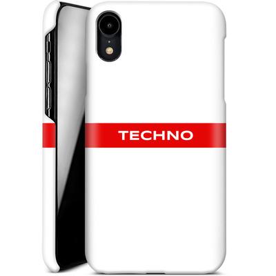 Apple iPhone XR Smartphone Huelle - RED LINE von Berlin Techno Collective