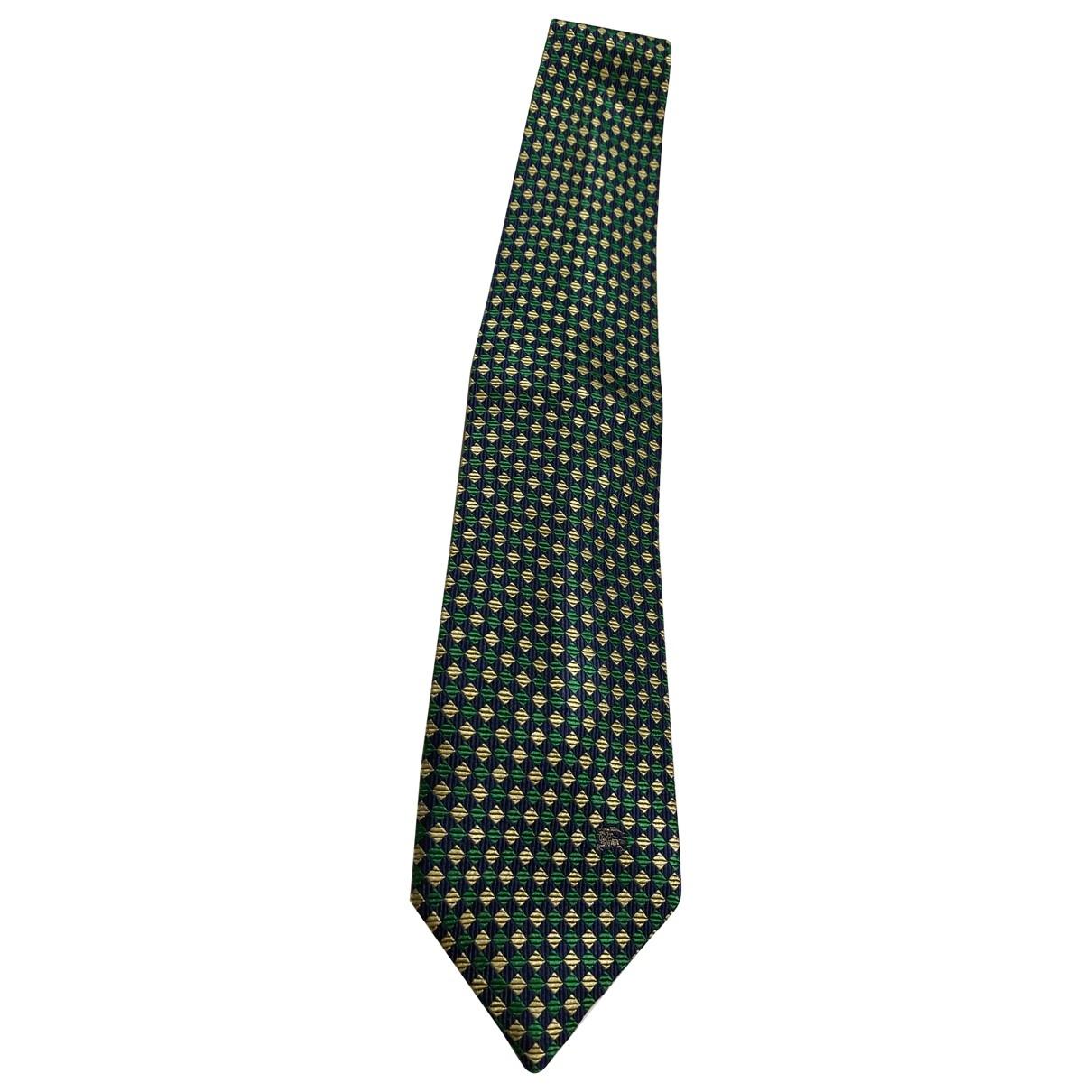 Burberry \N Krawatten in  Gruen Seide