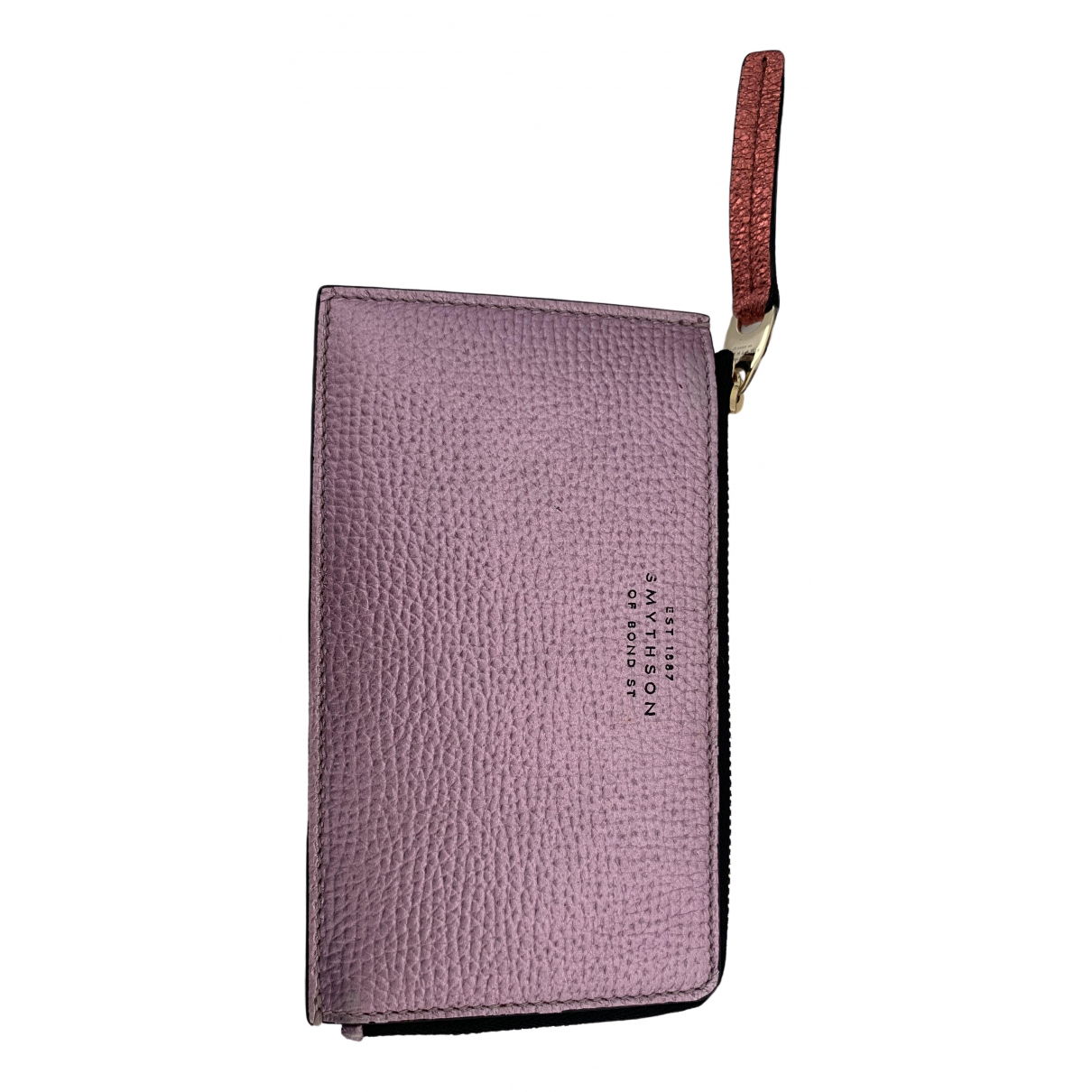 Smythson \N Pink Leather Purses, wallet & cases for Women \N