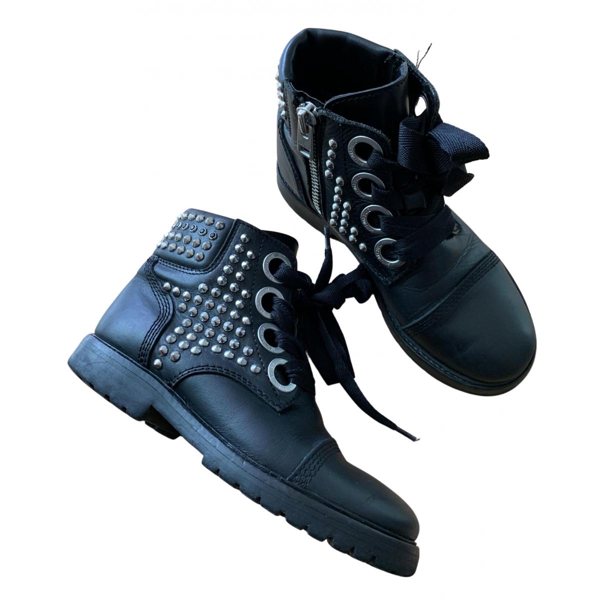 Zadig & Voltaire - Boots Joe pour femme en cuir - noir