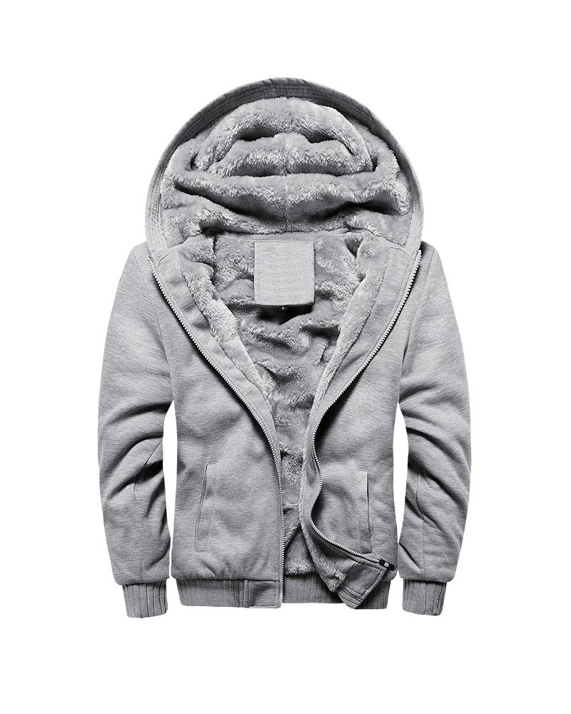 V-Neck Plain Pocket Zipper Thick Loose Model Down Coat
