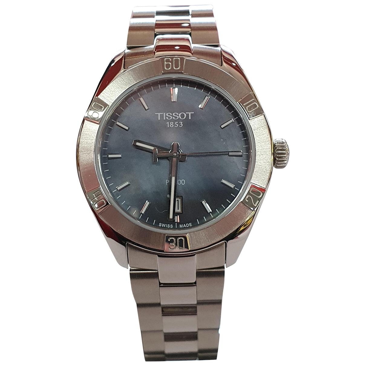 Tissot \N Anthracite Steel watch for Women \N
