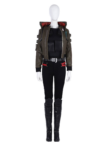 Milanoo Cyberpunk 2077 Costume Cyberpunk Jacket Carnival Women Cosplay Costume