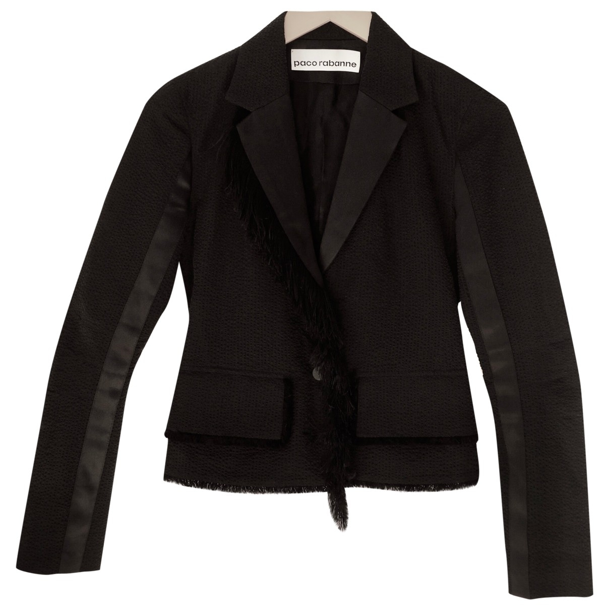 Paco Rabanne \N Black Cotton jacket for Women 36 FR