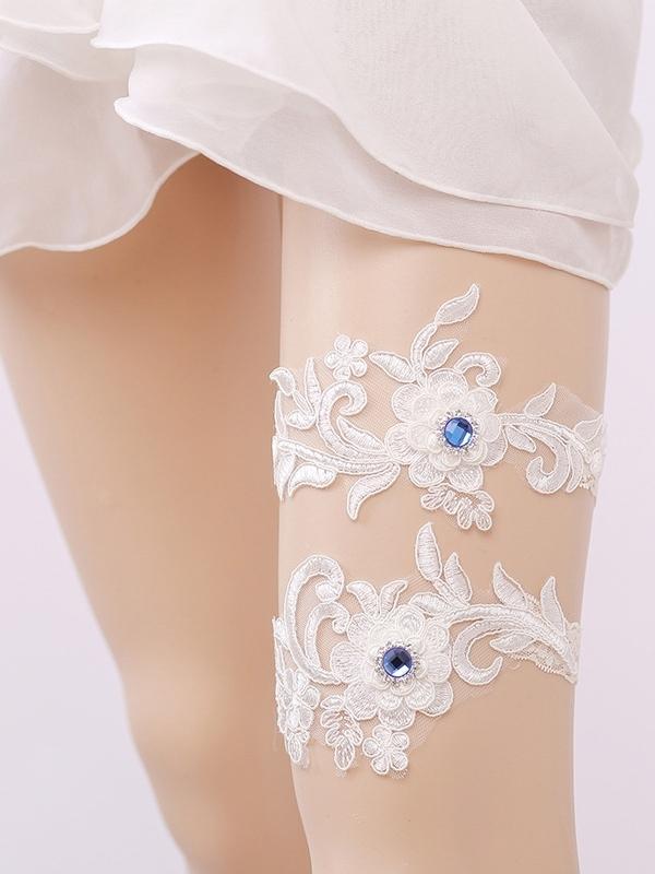 Ericdress Beading Floral Appliques Bridal Garters