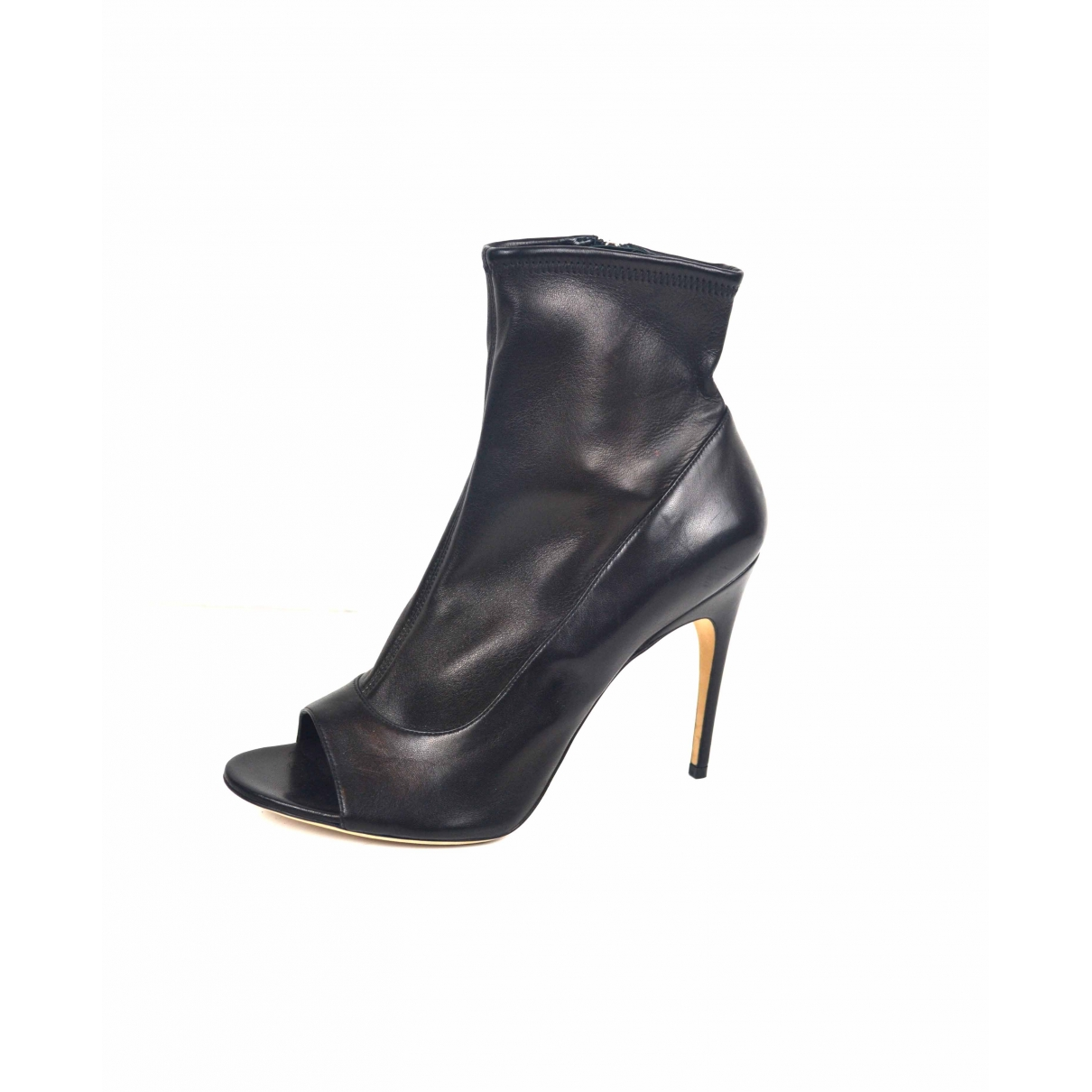 Sergio Rossi \N Black Leather Ankle boots for Women 42 EU