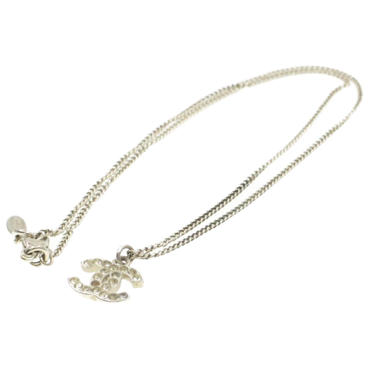 Chanel \N Kette in  Silber Metall