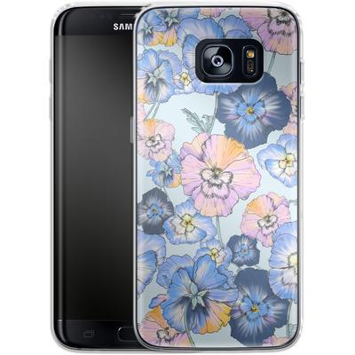 Samsung Galaxy S7 Edge Silikon Handyhuelle - Pretty Pansy von Stephanie Breeze