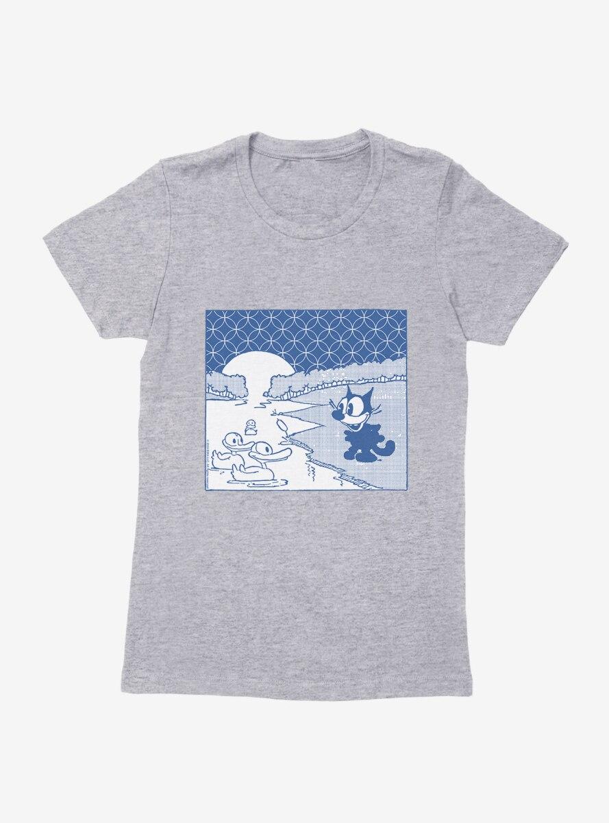 Felix The Cat Duck Pond Womens T-Shirt
