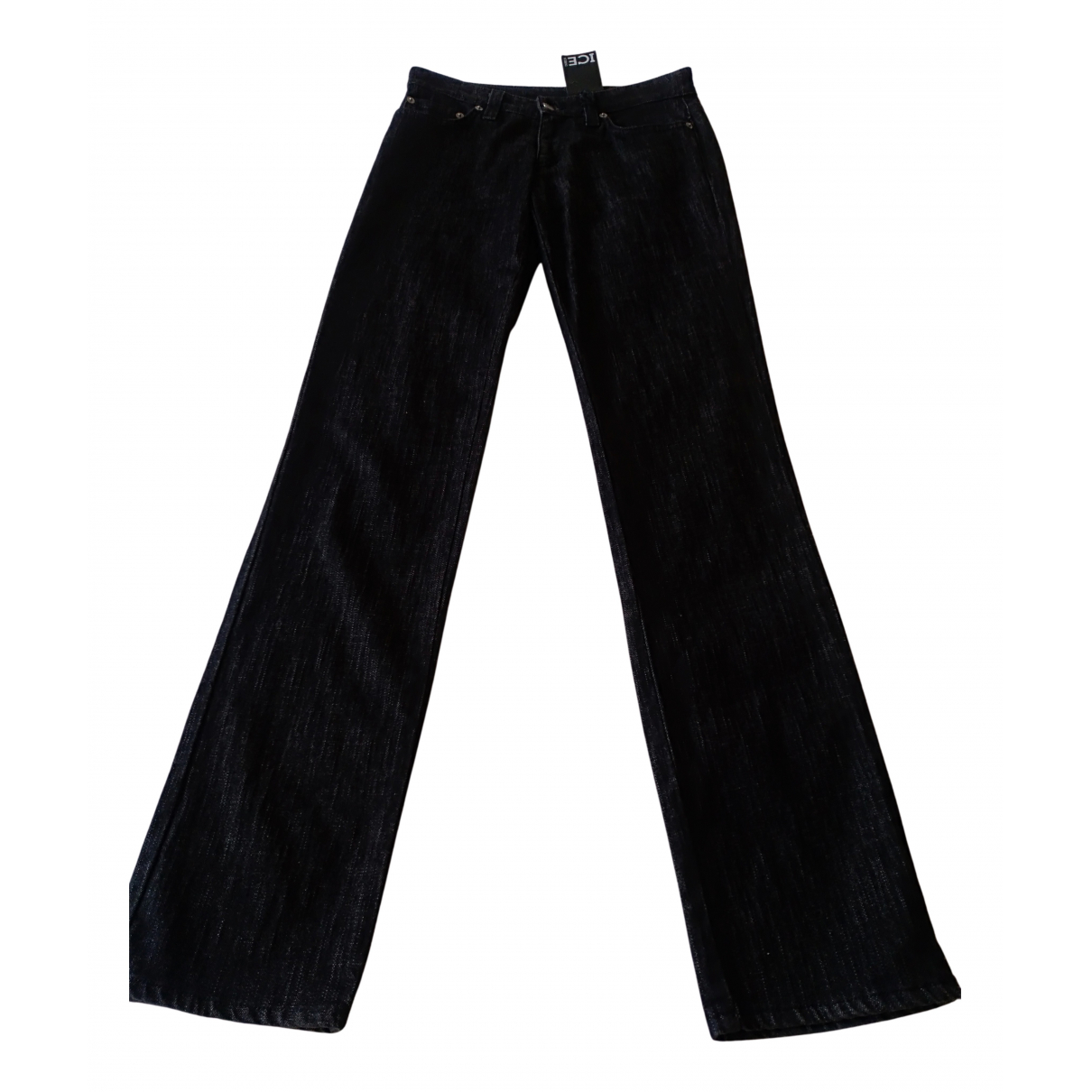 Iceberg N Anthracite Cotton Trousers for Women 36 FR