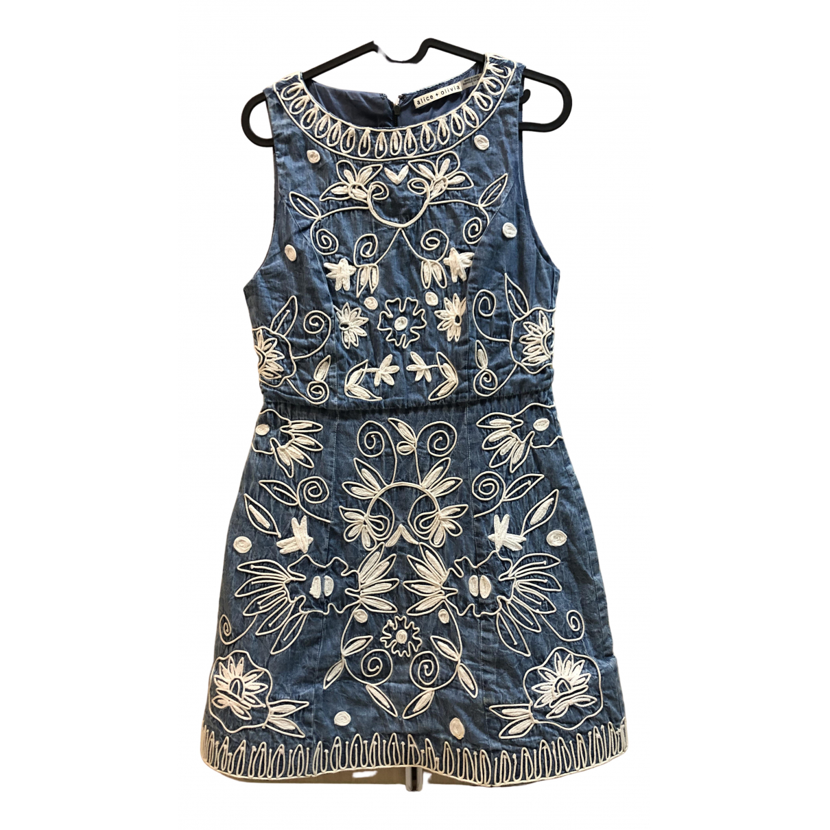 Alice & Olivia \N Blue Denim - Jeans dress for Women 2 US