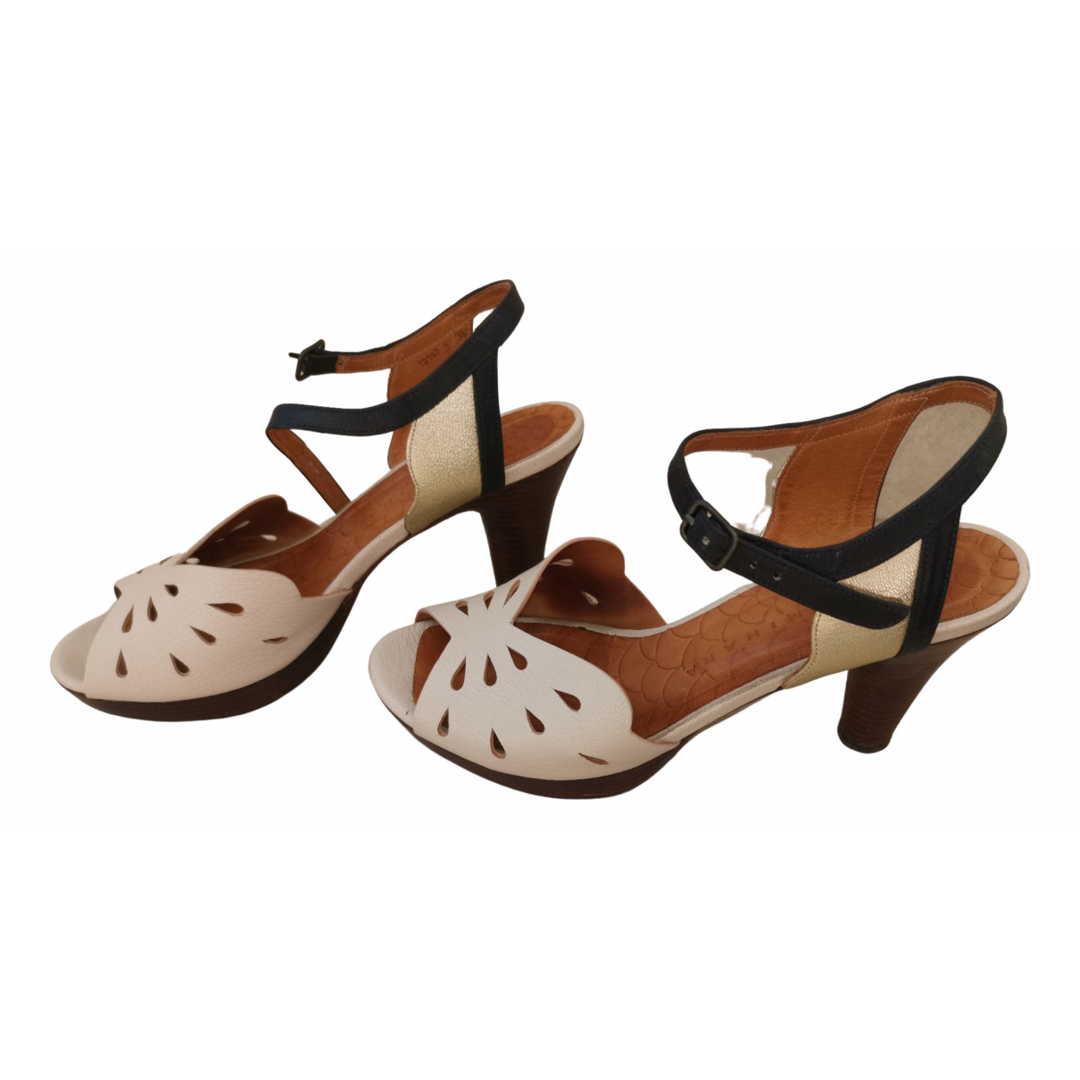 Chie Mihara \N Beige Leather Sandals for Women 38.5 EU