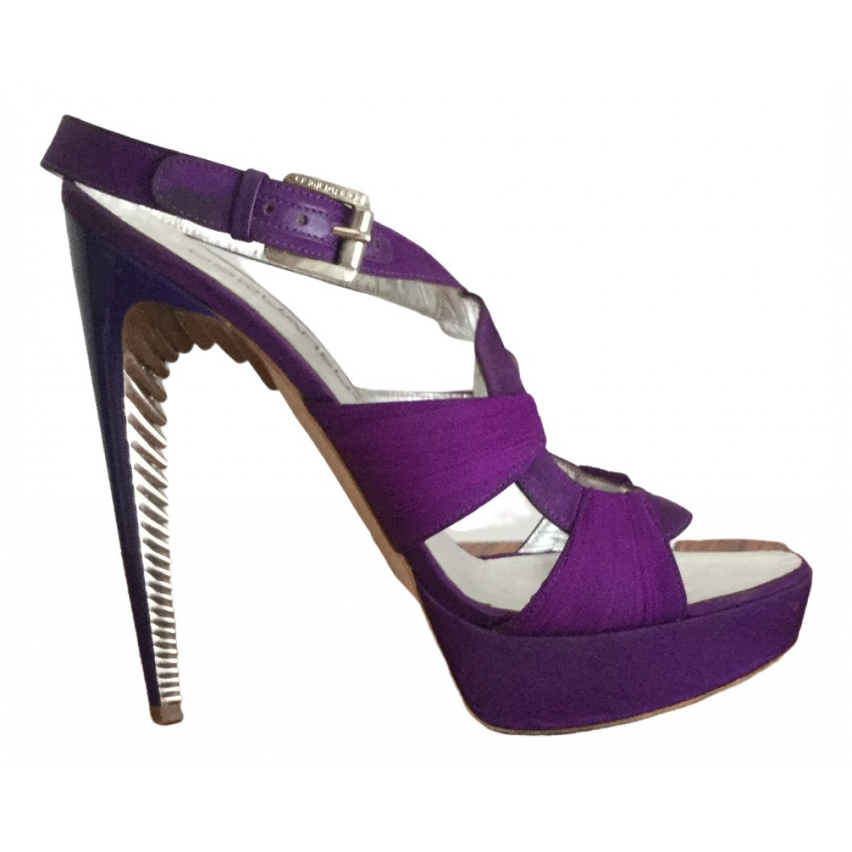Dsquared2 \N Purple Cloth Sandals for Women 39 IT