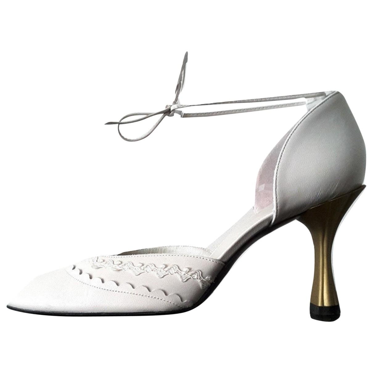 Charles Jourdan - Escarpins   pour femme en cuir - blanc