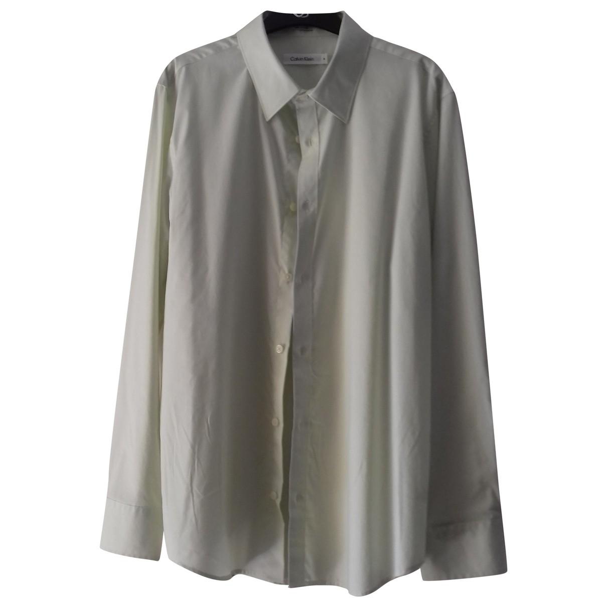Calvin Klein - Chemises   pour homme en coton - vert