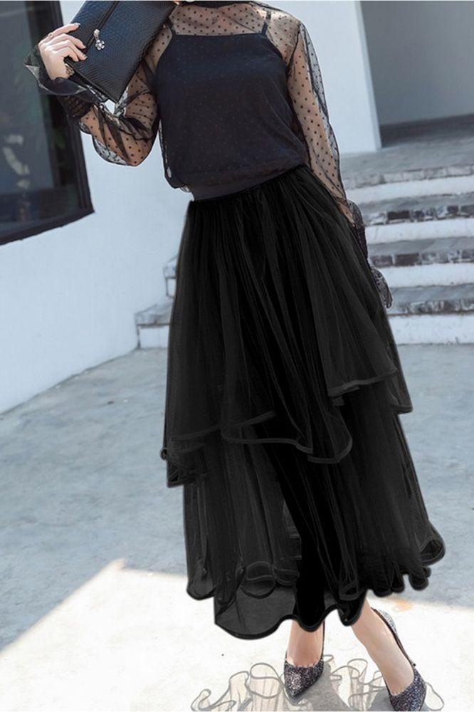 Beatrice | Schwarzer Petticoat mit Schichten