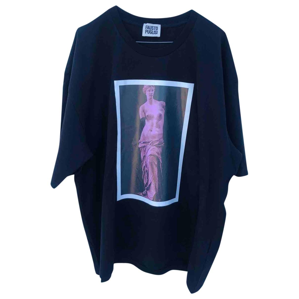 Fausto Puglisi \N Black Cotton T-shirts for Men M International