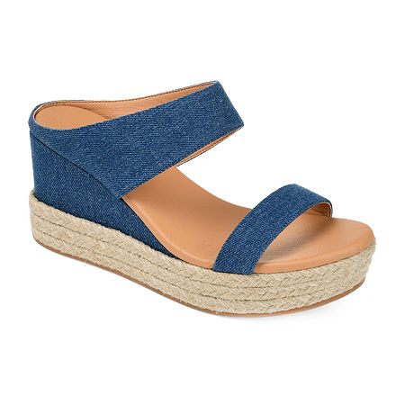 Journee Collection Womens Alissa Slip-On Shoe, 8 Medium, Blue