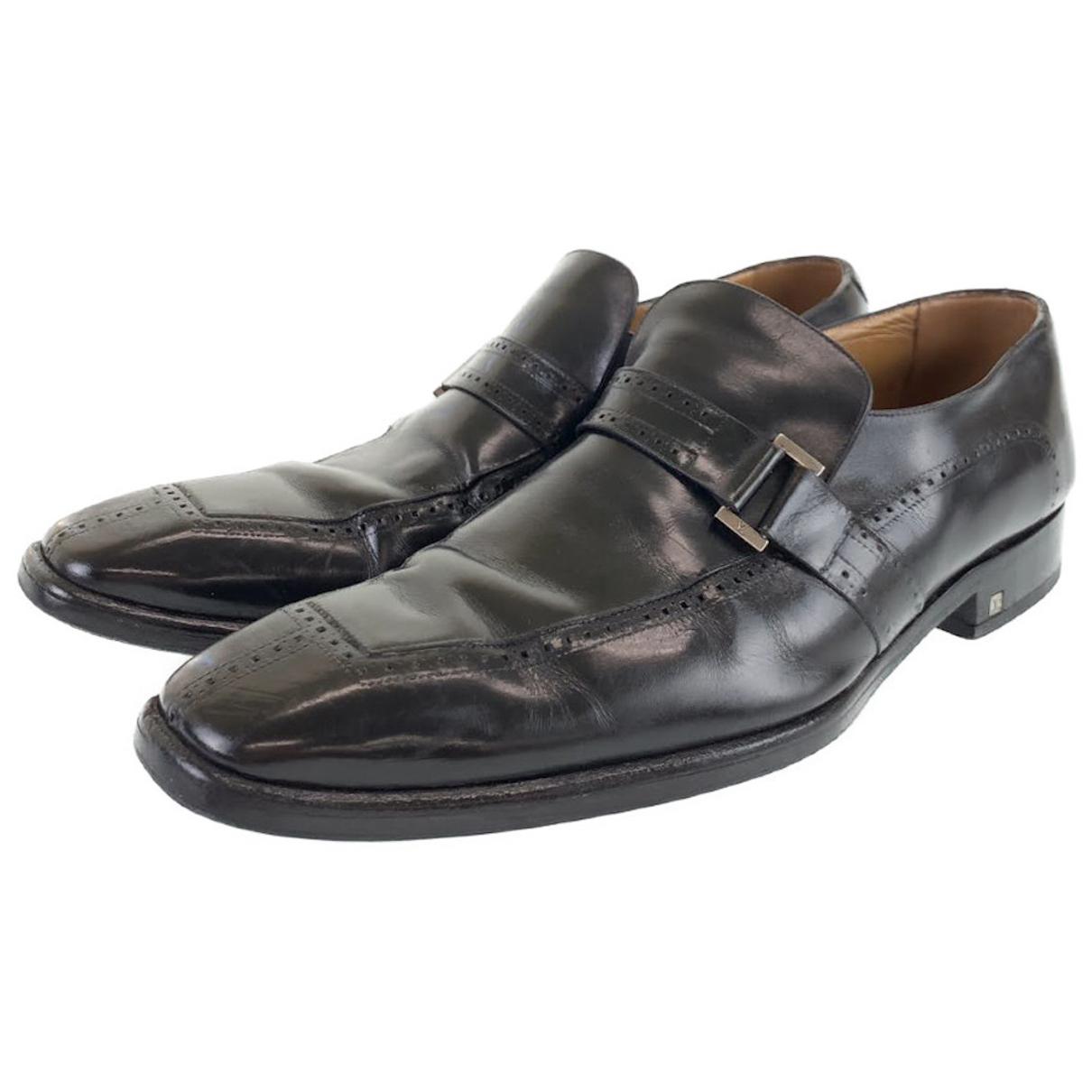 Louis Vuitton N Leather Flats for Men 8 UK