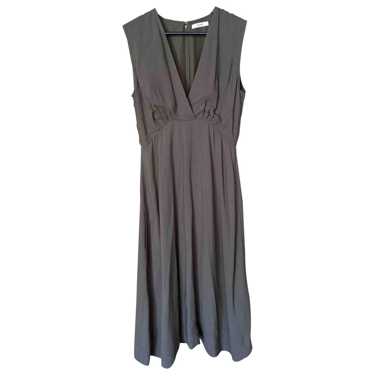 Celine \N Khaki dress for Women 38 FR