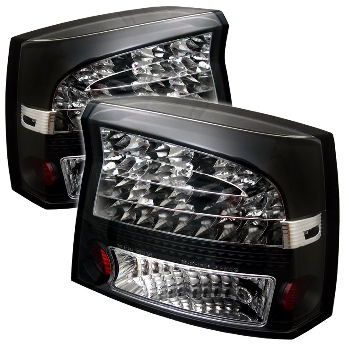 Spyder LED Black Tail Lights Dodge Charger 05-08