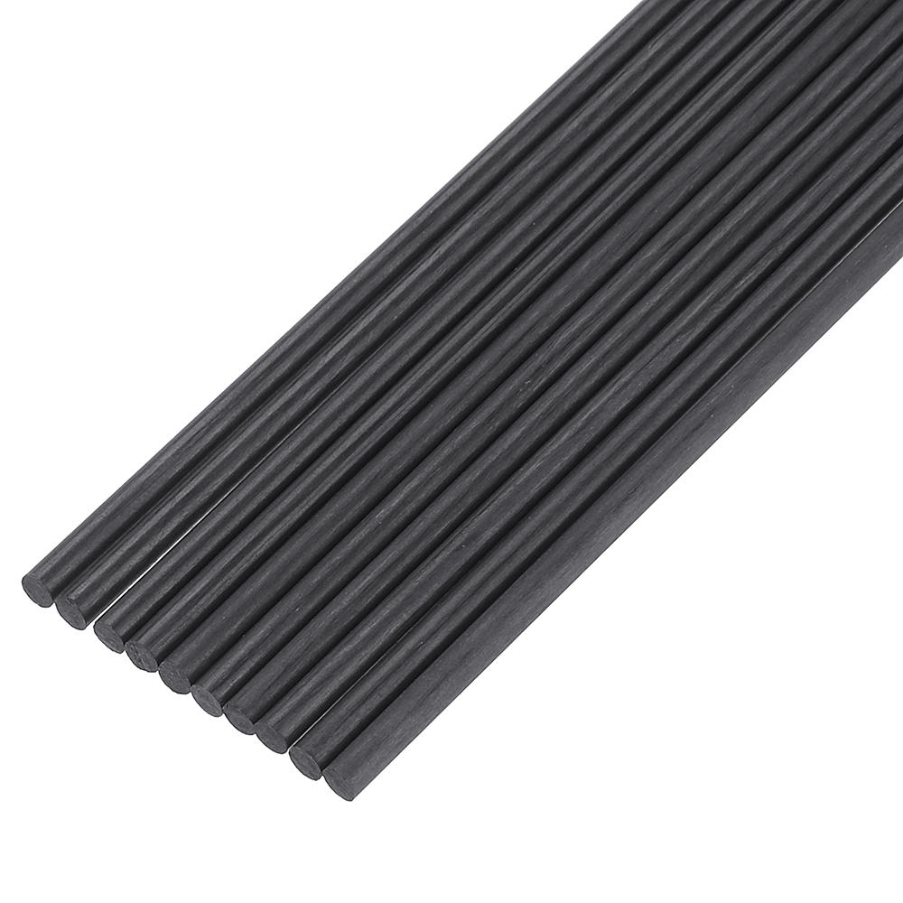 10Pcs/Set 200mm Round Carbon Fiber Rods Roll Bars Wrapped Matt Surface for RC Airplane DIY Tool