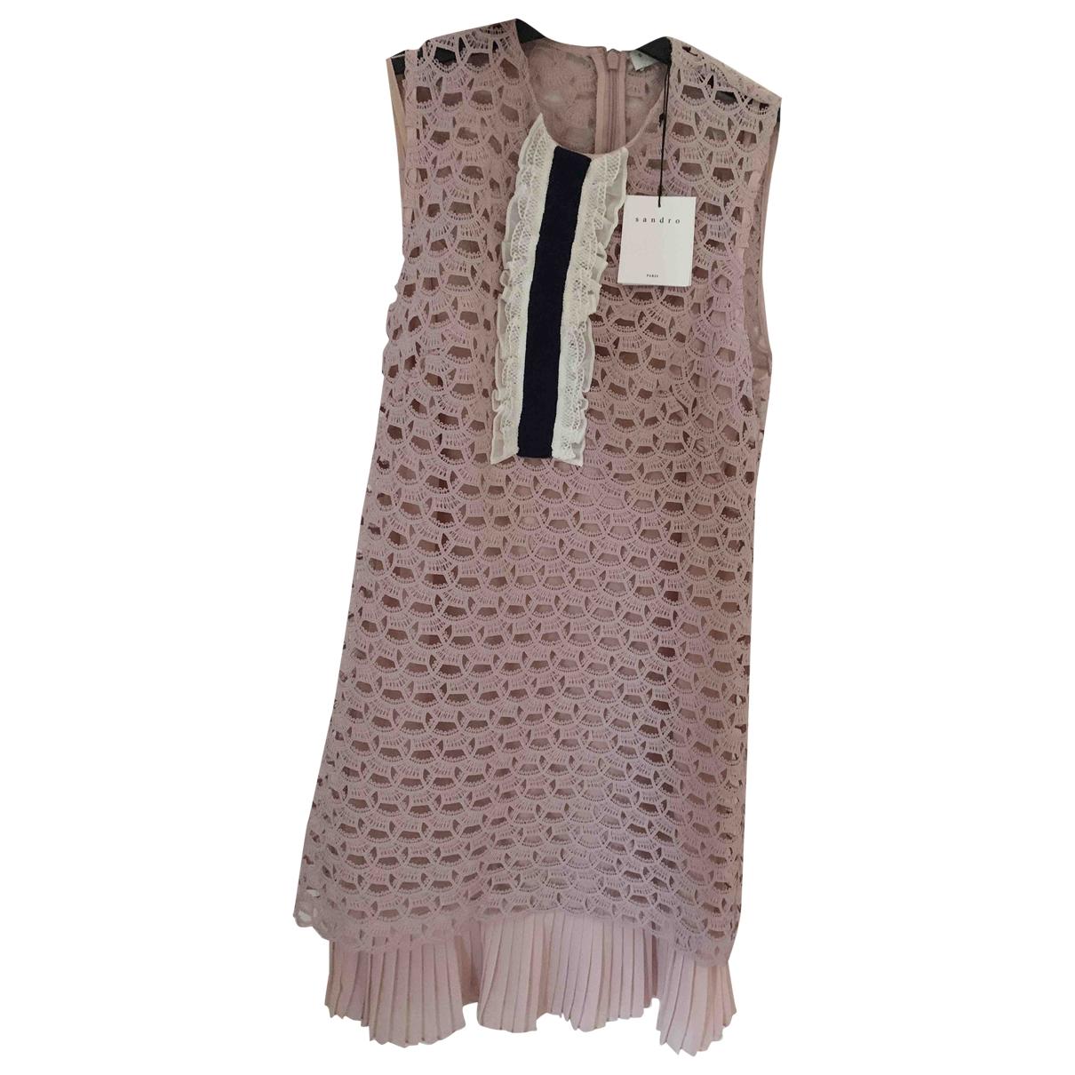 Sandro Spring Summer 2019 Kleid in  Rosa Polyester