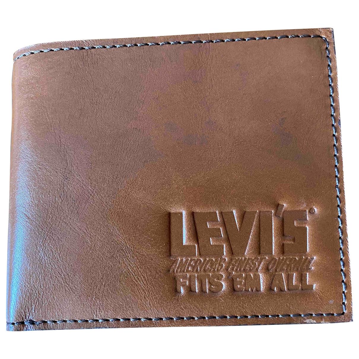 Levis - Petite maroquinerie   pour homme en cuir - marron