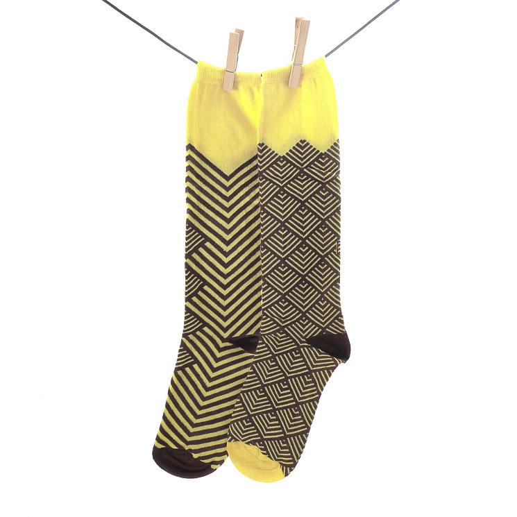 OYBO, Peacock Yellow Unisex Longsocks, gelb Grosse 41-44