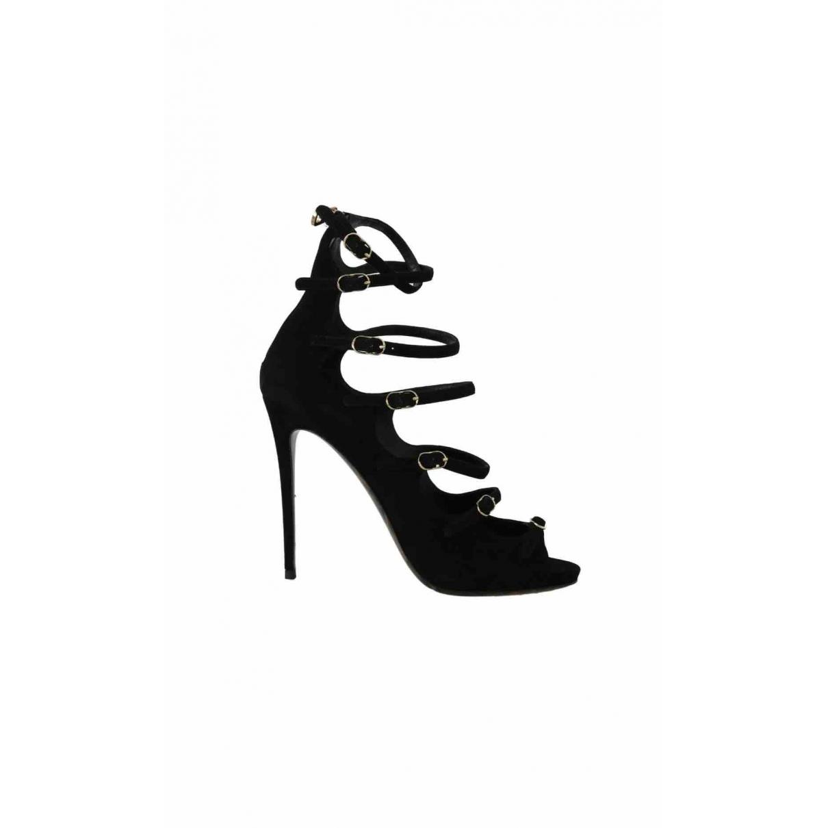 Dolce & Gabbana \N Sandalen in  Schwarz Veloursleder