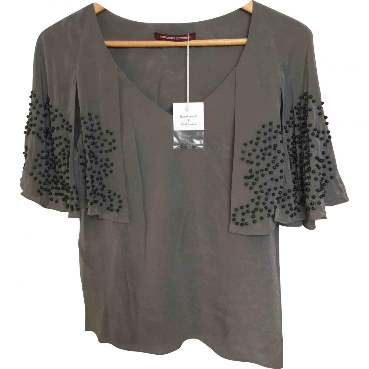 Comptoir Des Cotonniers \N Grey Silk  top for Women 36 FR