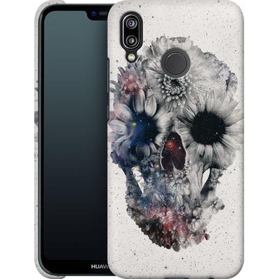 Huawei P20 Lite Smartphone Huelle - Floral Skull 2 von Ali Gulec