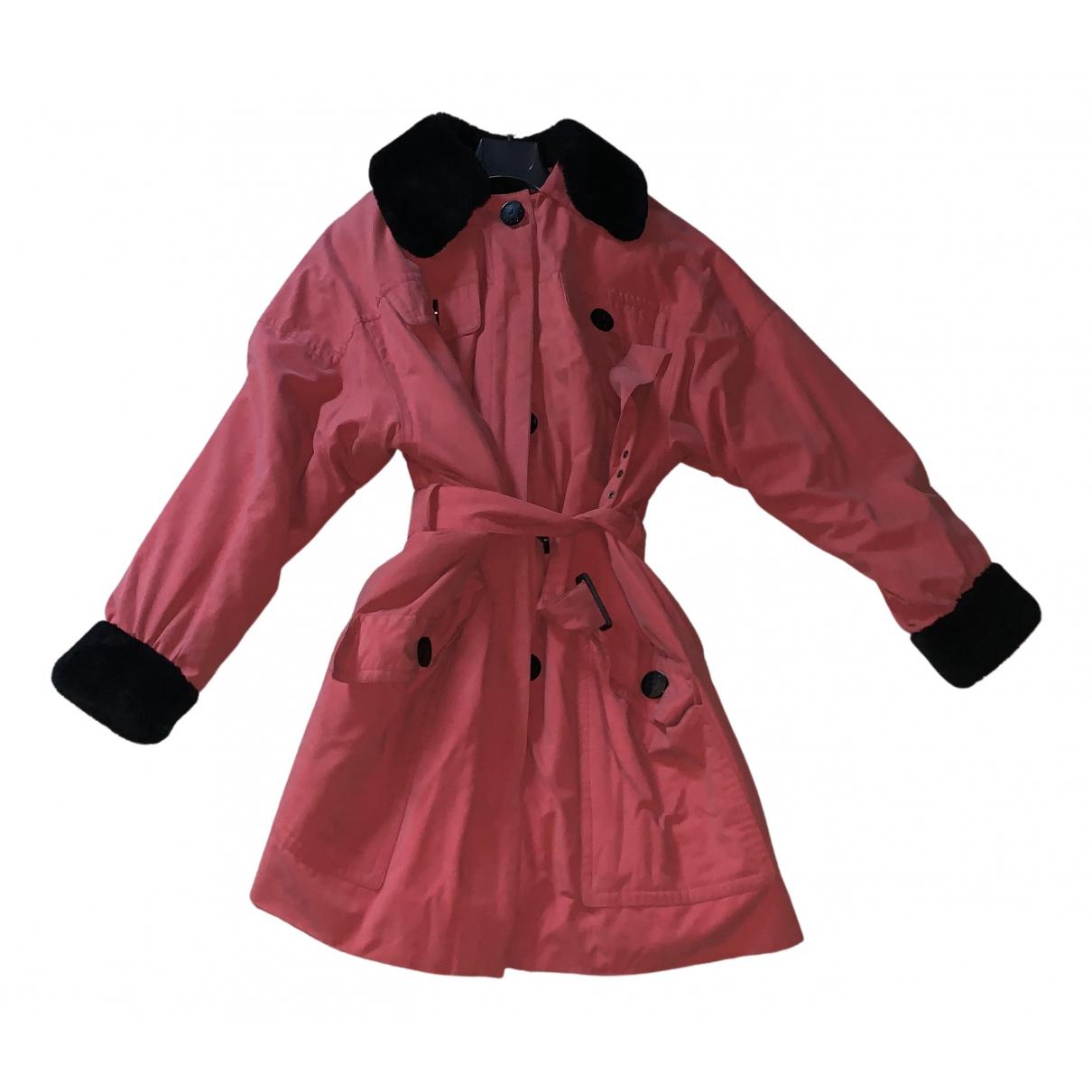 Yves Saint Laurent - Manteau   pour femme en lapin - rouge