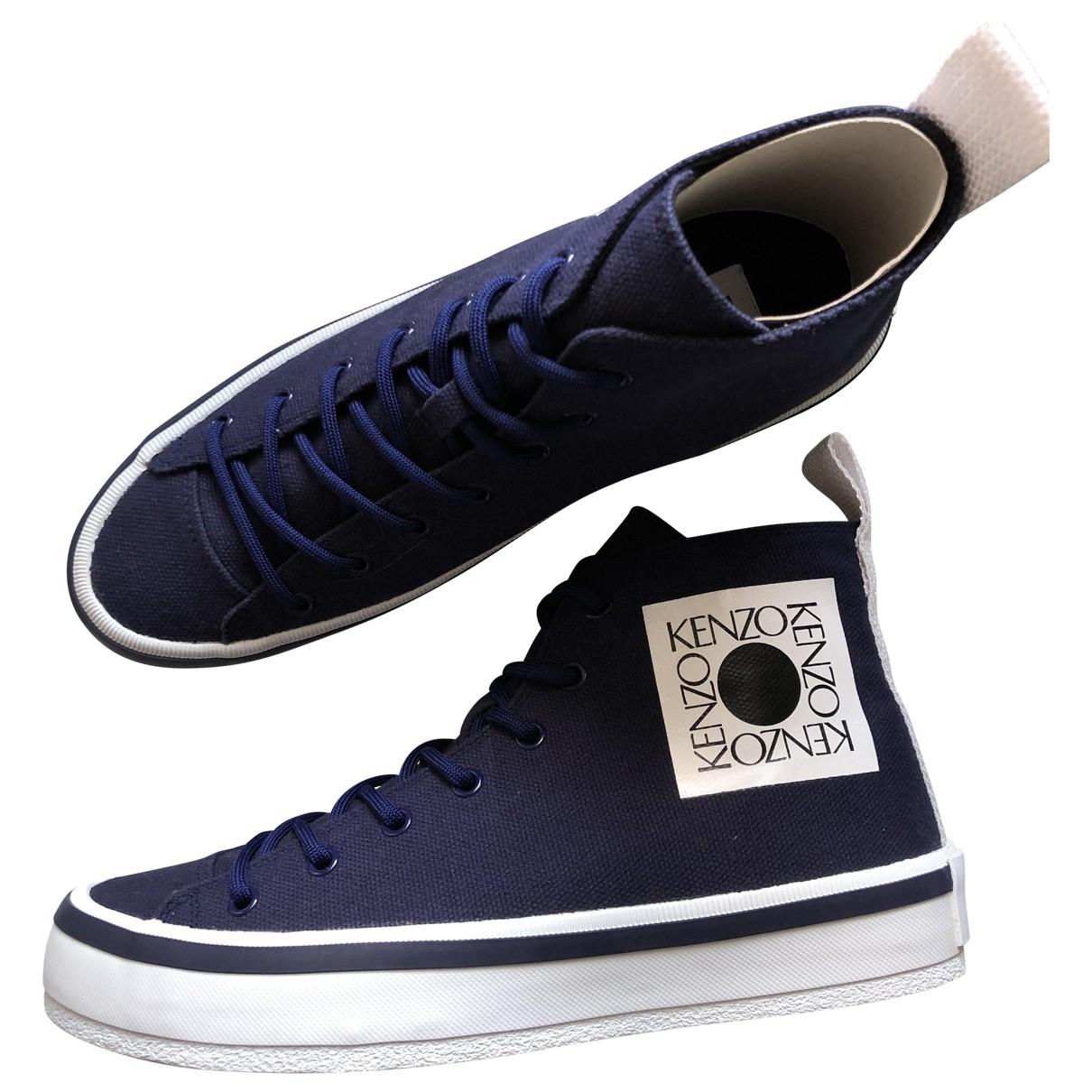 Kenzo \N Sneakers in  Blau Leinen