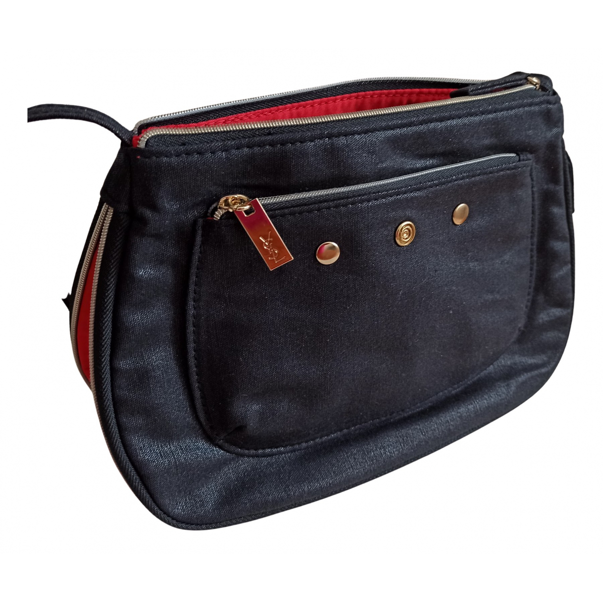 Yves Saint Laurent \N Clutch in  Schwarz Baumwolle