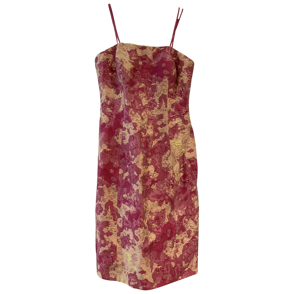 Theia \N Kleid in  Rosa Polyester