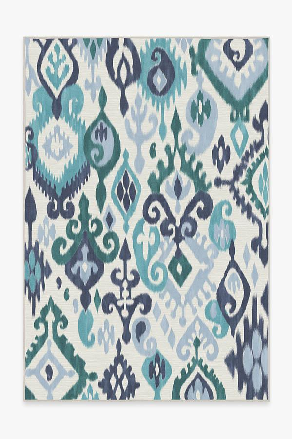 Washable Rug Cover | Eisley Teal Rug | Stain-Resistant | Ruggable | 6'x9'