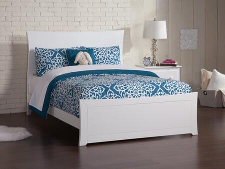Metro Collection AR9036032 Full Size Traditional Bed with Matching Low Profile Footboard  Symmetrical Curvature Frame and Eco-Friendly Solid Hardwood