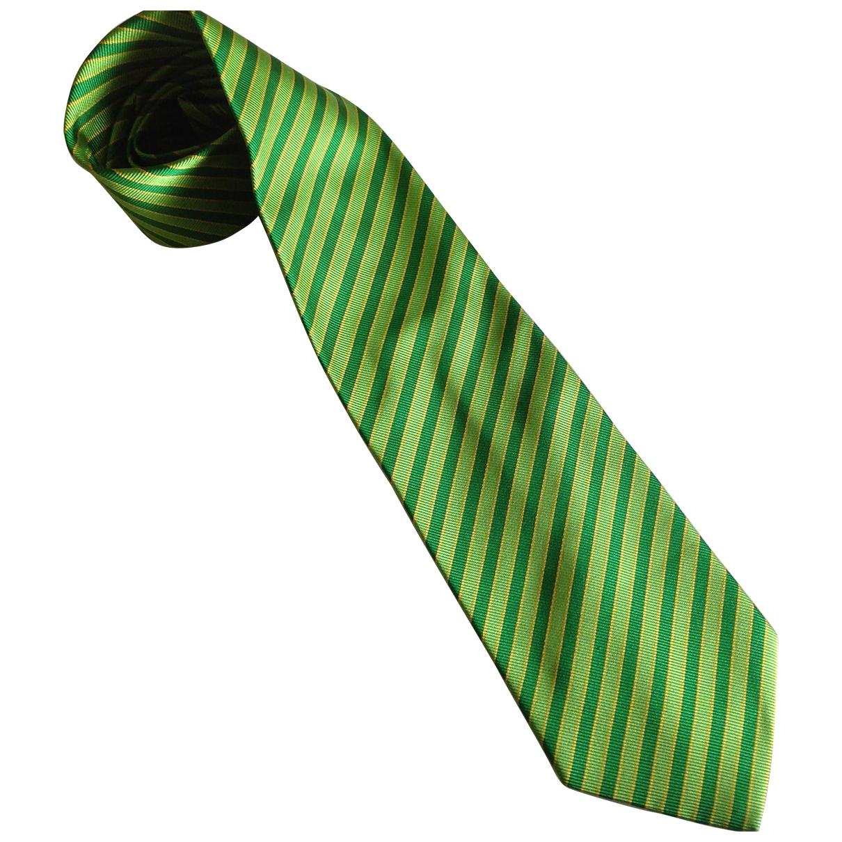 Etro - Cravates   pour homme en soie - vert