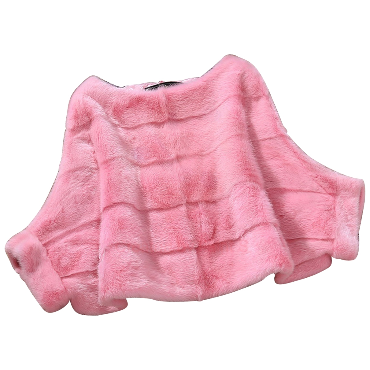 Non Signe / Unsigned \N Jacke in  Rosa Nerz
