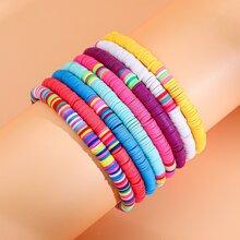 8 Stuecke Armband mit bunten Perlen