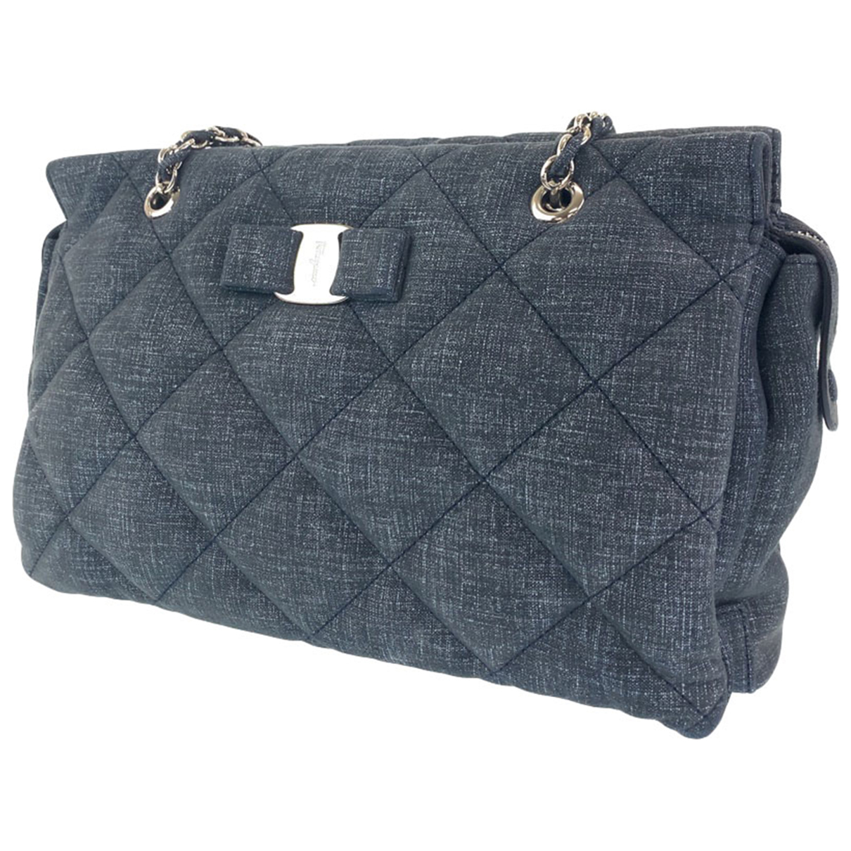 Salvatore Ferragamo \N Grey Cotton handbag for Women \N