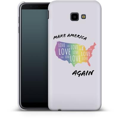 Samsung Galaxy J4 Plus Smartphone Huelle - Make America Love Again von caseable Designs