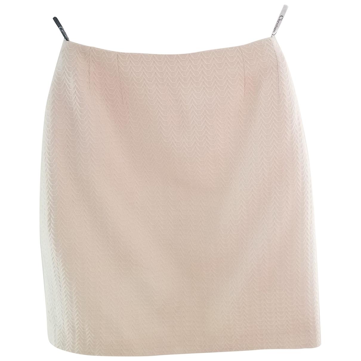 Dior \N Ecru Wool skirt for Women 40 FR