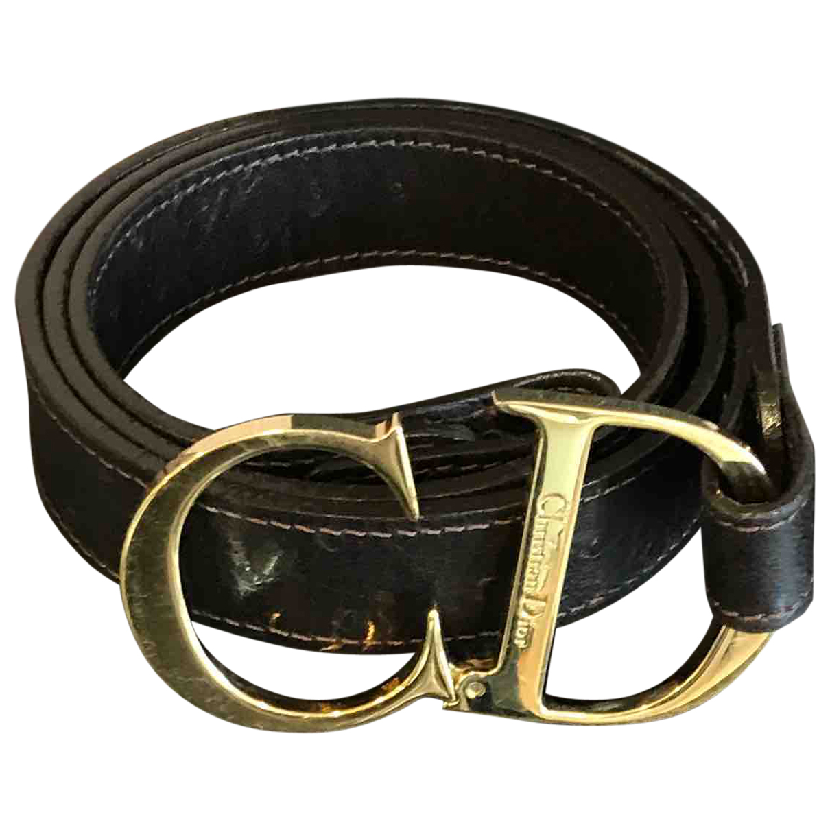 Dior N Brown Leather belt for Women 37 Inches