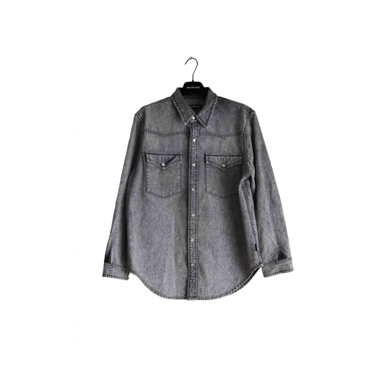 Balenciaga \N Grey Denim - Jeans Shirts for Men 38 EU (tour de cou / collar)
