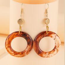 Ohrringe mit Ring Anhaenger